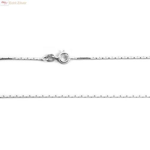 ZilverVoorJou Zilveren cardano ketting 50 cm 1.1 mm