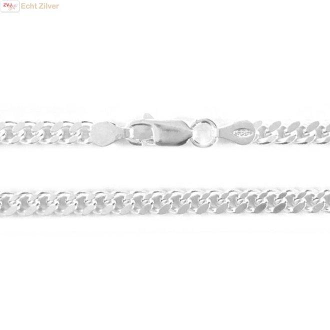 Zilveren gourmet ketting 4.3 mm breed 50 cm lang