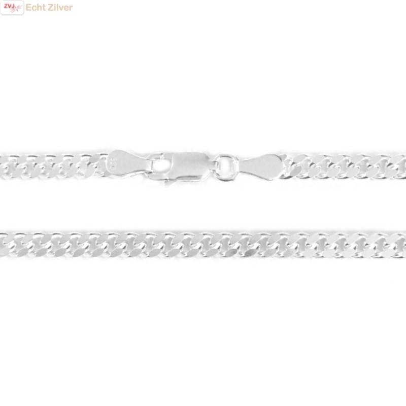 Zilveren gourmet ketting 3.5 mm breed 50 cm lang-1