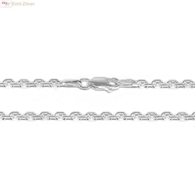 Zilveren anker ketting 50 cm en 2.7 mm breed