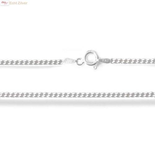 ZilverVoorJou Zilveren gourmet ketting 50 cm lang 1.7 mm breed