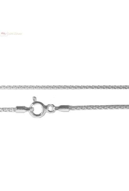 Zilveren kabel ketting 42.5 cm 1 mm breed