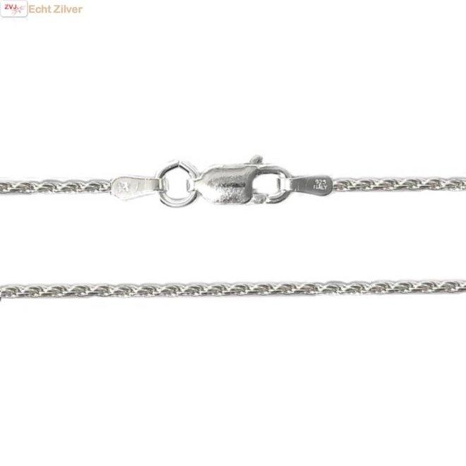 Zilveren rope ketting 55 cm 1.4 mm