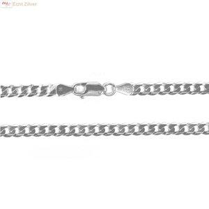 ZilverVoorJou Zilveren platte gourmet ketting 5 mm breed 55 cm lang
