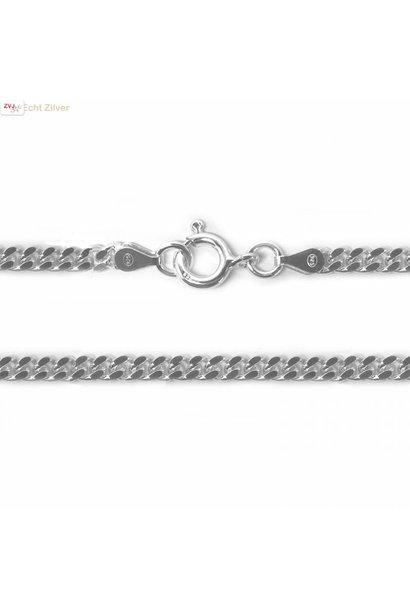 Zilveren  gourmet ketting 4 mm breed 55 cm lang
