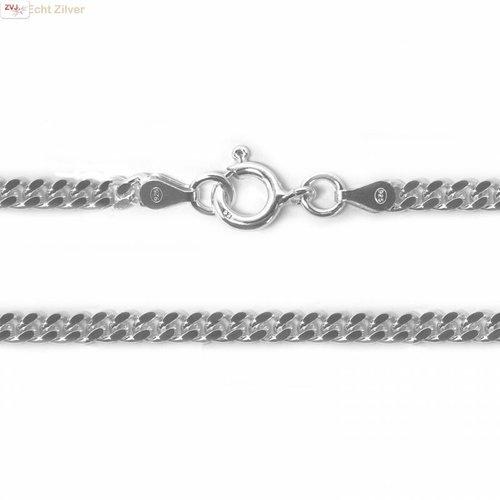 ZilverVoorJou Zilveren  gourmet ketting 4 mm breed 55 cm lang