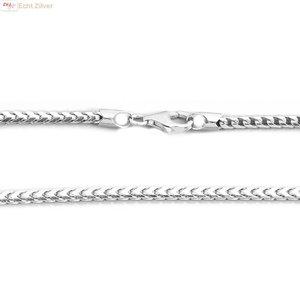 ZilverVoorJou Zilveren foxtail ketting 55 cm 2.5 mm