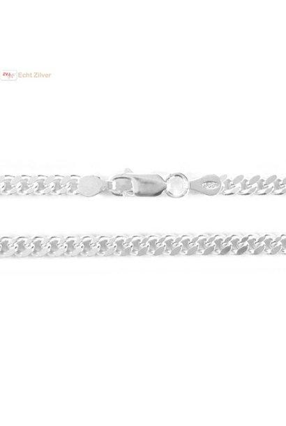 Zilveren gourmet ketting 4.3 mm breed 55 cm lang