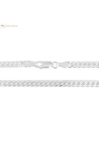 Zilveren gourmet ketting 3.5 mm breed 55 cm lang