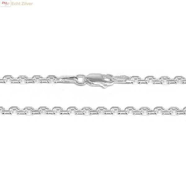 Zilveren anker ketting 55 cm en 2.7 mm breed