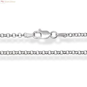 ZilverVoorJou Zilveren rolo jasseron ketting 60 cm lang 2.7 mm breed