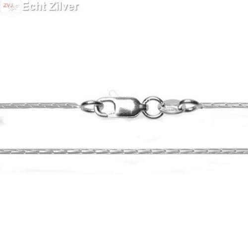ZilverVoorJou Zilveren cardano ketting 60 cm en 1.3 mm breed