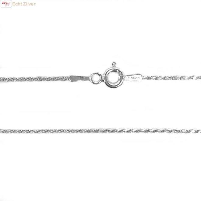Zilveren rope ketting 60 cm 1.2 mm