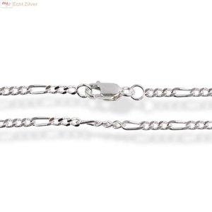 ZilverVoorJou Zilveren figaro schakel ketting 70 cm 2.2 mm breed