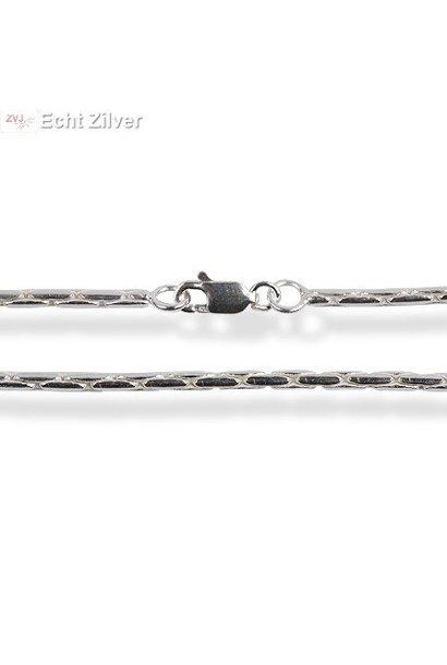 Zilveren cardano ketting 70 cm en 1.7 mm breed