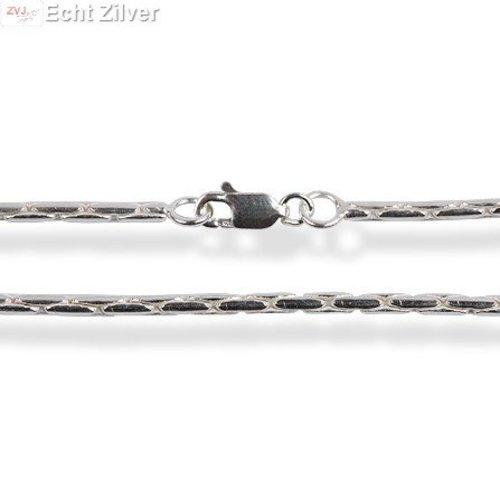 ZilverVoorJou Zilveren cardano ketting 70 cm en 1.7 mm breed
