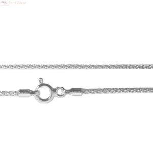 ZilverVoorJou Zilveren kabel ketting 70 cm 1 mm breed