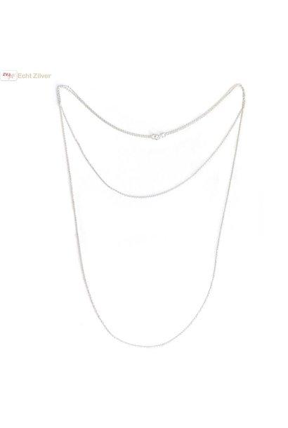 Zilveren lagen ketting