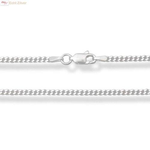 ZilverVoorJou Zilveren gourmet ketting 76 cm lang 2 mm breed