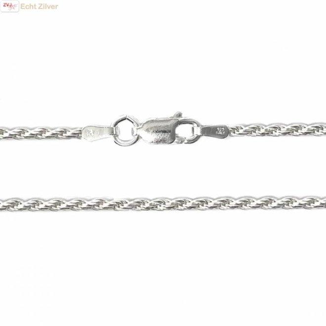 Zilveren rope ketting 76 cm 1.8 mm