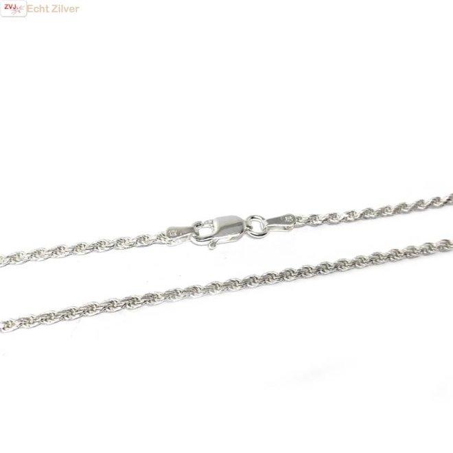 Zilveren rope ketting 70 cm 1.8 mm