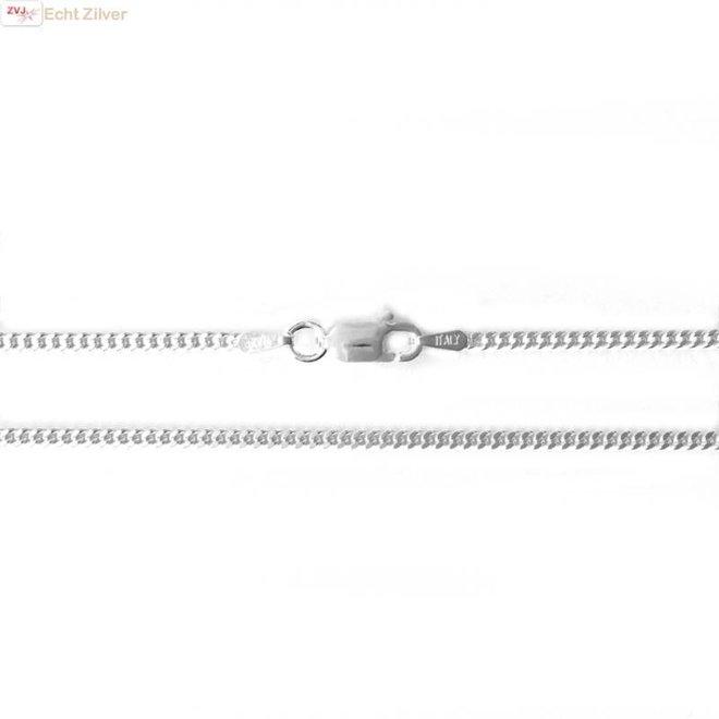 Zilveren gourmet ketting 55 cm lang 2 mm breed