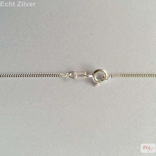 Zilveren gourmet ketting 38 cm lang 1,2 mm breed