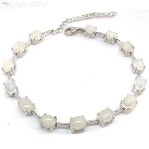 ZilverVoorJou Zilveren opaal armband