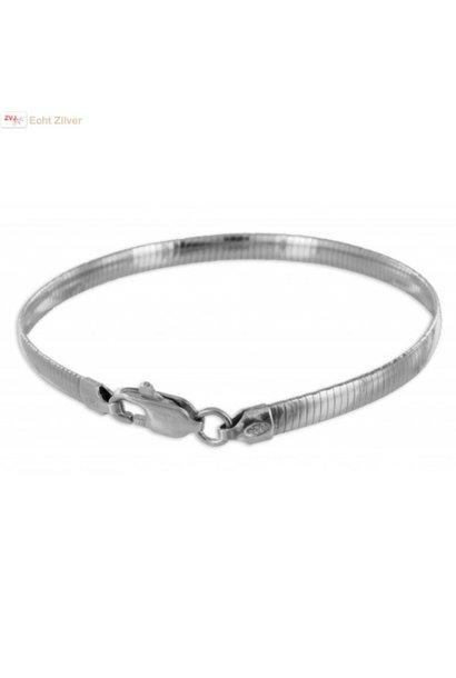 Zilveren omega armband 18cm 4mm