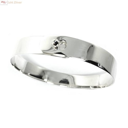 ZilverVoorJou Zilveren strakke bangle armband