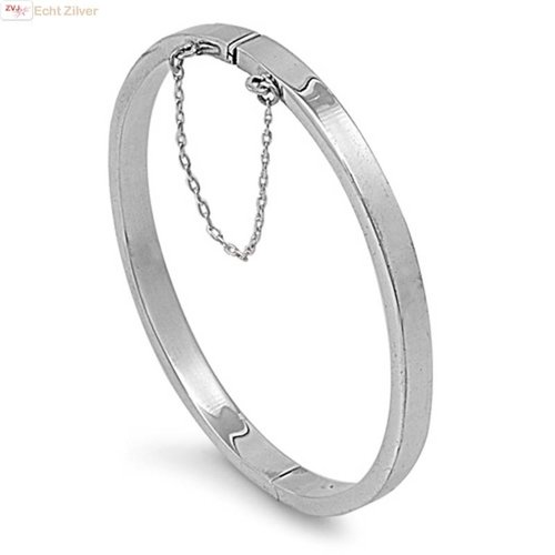 ZilverVoorJou Zilveren ovale slavenarmband 55x60 5mm breed
