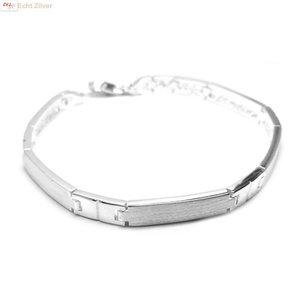 ZilverVoorJou Zilveren Hoogglans mat zilveren armband
