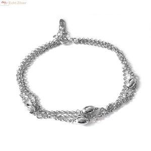 ZilverVoorJou Zilveren 3 rijen armbandje