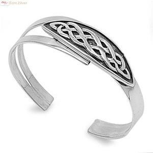 ZilverVoorJou Zilveren Keltische design klemarmband