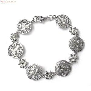 ZilverVoorJou Zilveren klassieke klaver vier armband