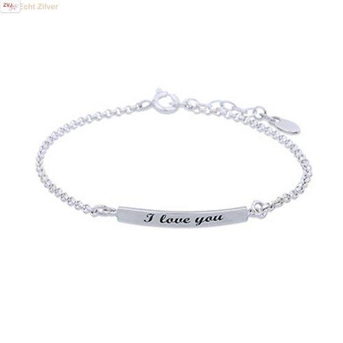 ZilverVoorJou Zilveren I love you armbandje