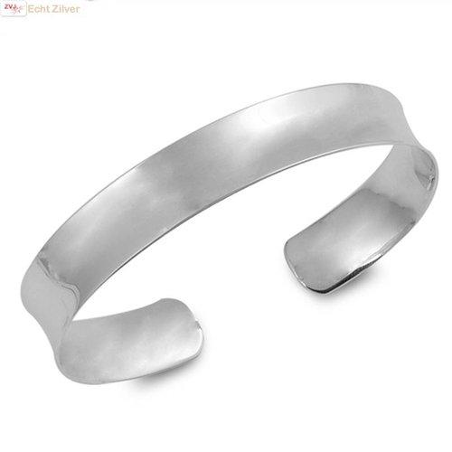 ZilverVoorJou Zilveren hoogglans klemarmband