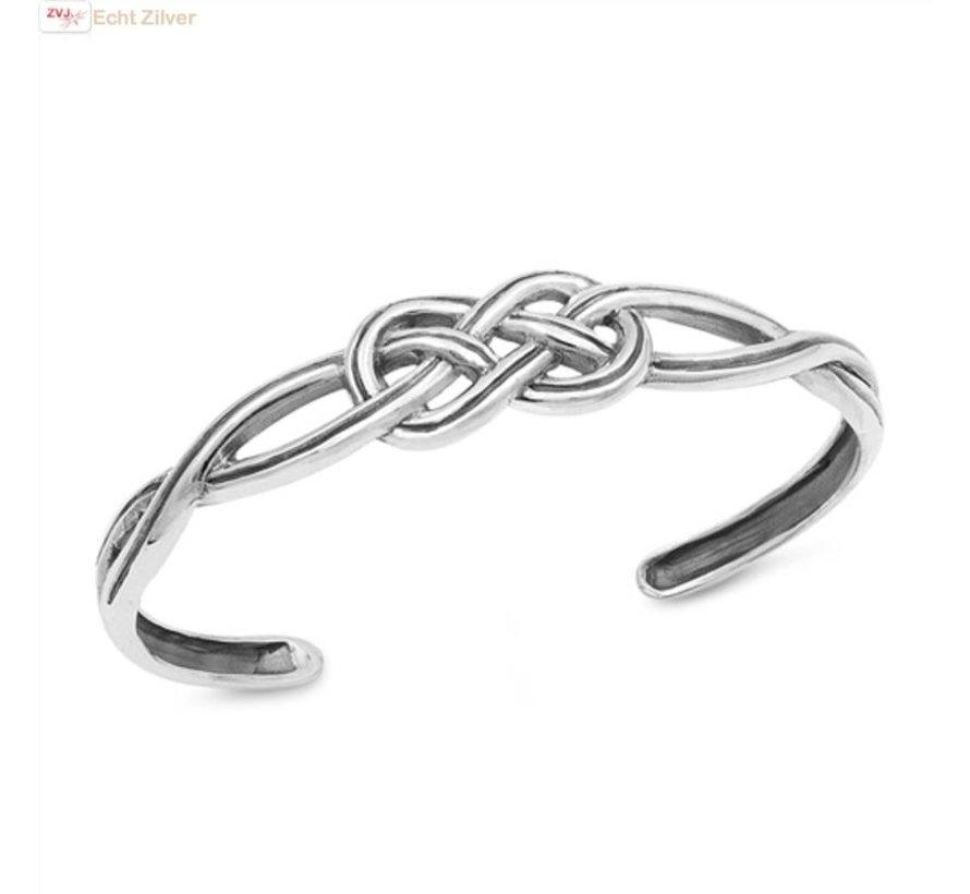 Zilveren Keltische Knoop Klemarmband Zilvervoorjou