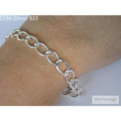 ZilverVoorJou Zilveren bedel schakel armband 18 cm