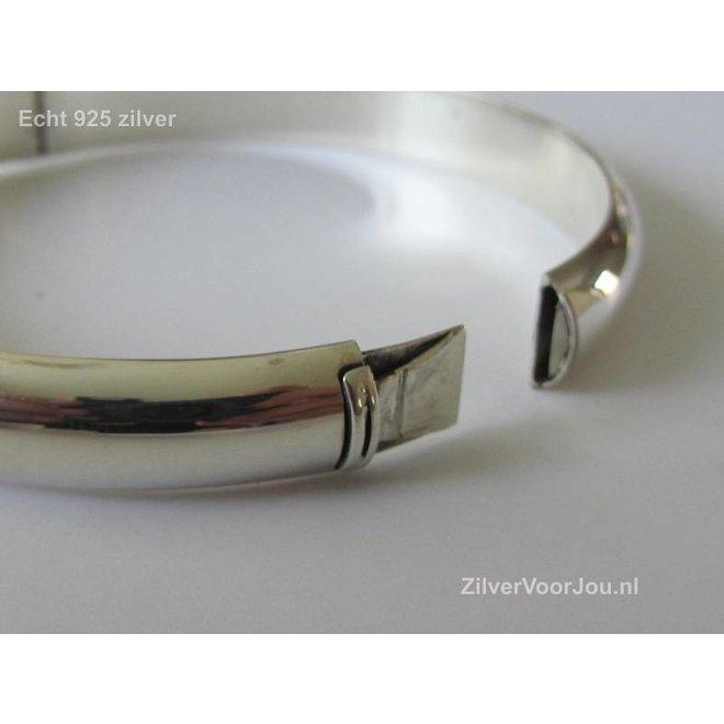 Zilveren ronde slavenarmband 60x60 9mm breed