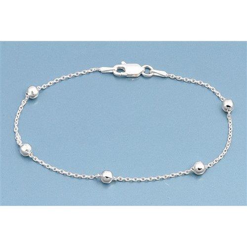 ZilverVoorJou Zilveren 5 balletjes  armbandje