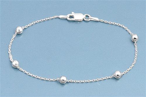Zilveren 5 balletjes  armbandje-3