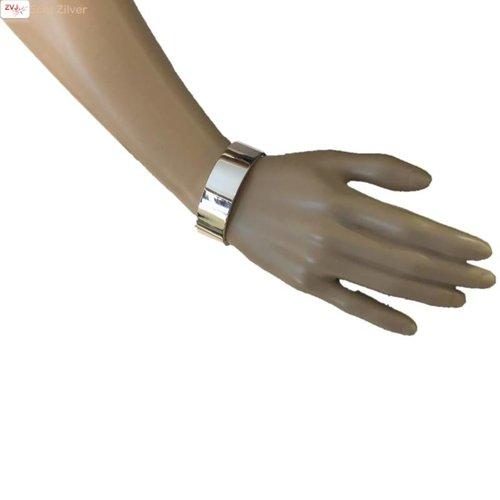 ZilverVoorJou Zilveren ovale slavenarmband plat  60x56 en 20 mm breed