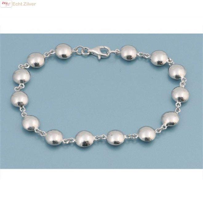 Zilveren schijfjes armband