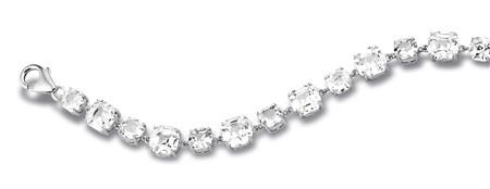 Zilveren armband witte zirkoon rhodium-4