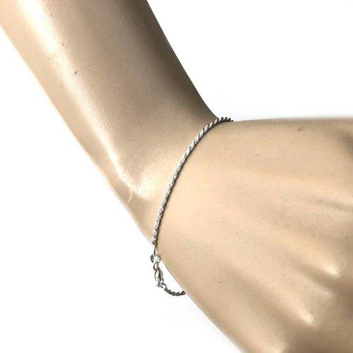 ZilverVoorJou Zilveren rope armbandje 20 cm 1.6 mm