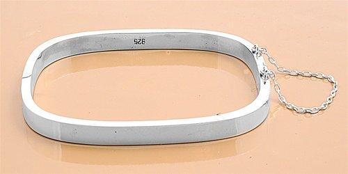 Zilveren vierkante slavenarmband  50 x 57 en 5 mm breed-3