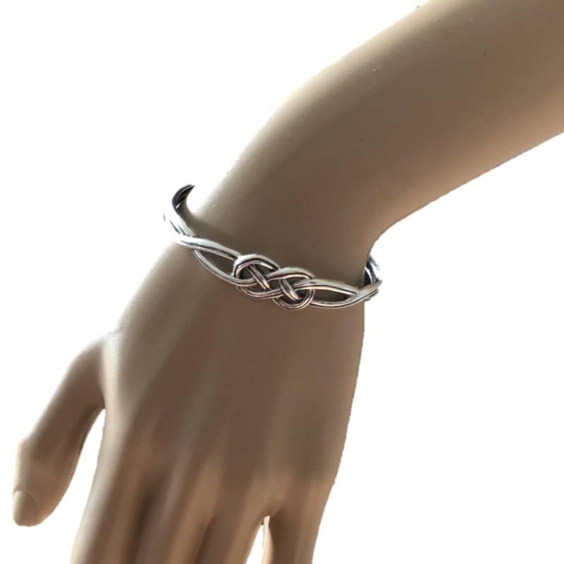 Zilveren keltische knoop klemarmband-2
