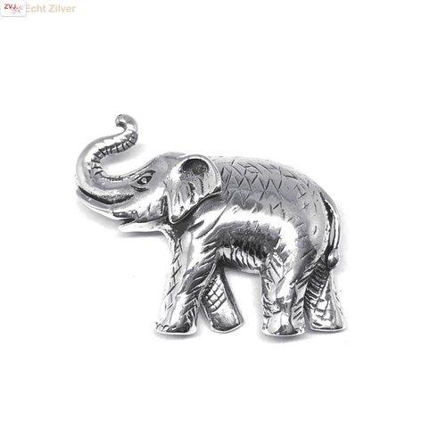 ZilverVoorJou Zilveren olifant sierspeld broche
