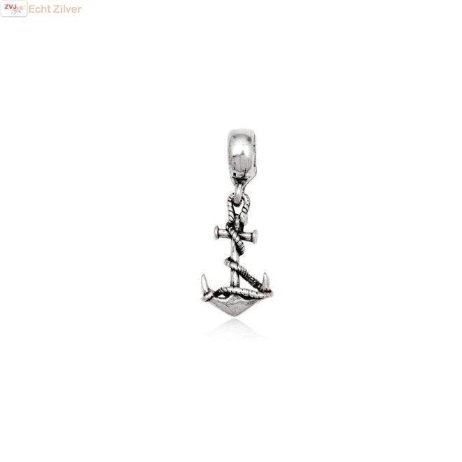 zilveren charm bedel anker